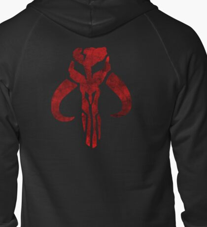 Mandalorian Symbol Zipped Hoodie