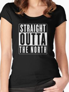 straight outta the north  Women's Fitted Scoop T-Shirt