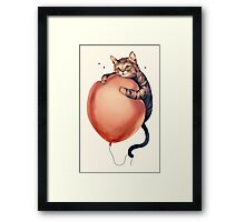 Cat in Troubles Framed Print