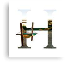 H for Hammock Canvas Print