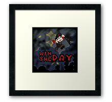 Win The Day - Video Game DRK Framed Print
