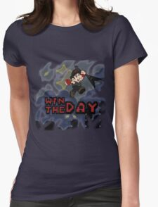 Win The Day - Video Game DRK Womens Fitted T-Shirt