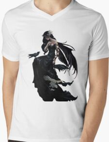 Pretty Gothic lady with crow Mens V-Neck T-Shirt