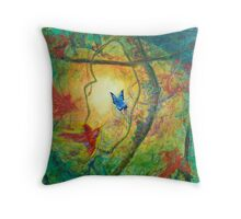 Butterfly in the light Throw Pillow