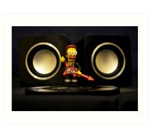 Ned Flanders the Rockstar Art Print