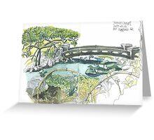 Japanese garden Budapest Greeting Card