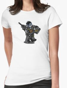 Black Ninja Exposed Womens Fitted T-Shirt