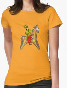 One horse rider in the Garden Womens Fitted T-Shirt