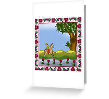 One horse rider in the Garden Greeting Card