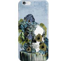 On a pedestal, floral skull iPhone Case/Skin