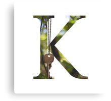 K for Key Canvas Print