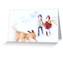 twin fox Greeting Card