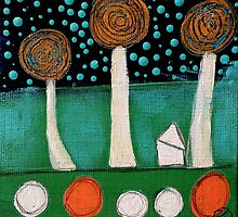 Polka Dots House 2 by tremblayart