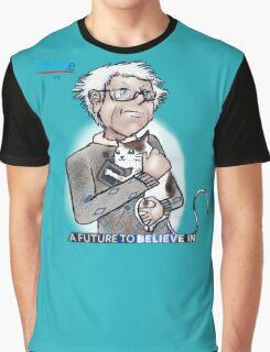 Bernie Sanders hugging a cat. Graphic T-Shirt
