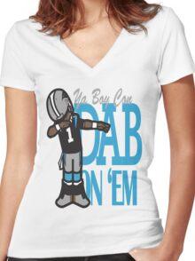 DAB ON'EM Women's Fitted V-Neck T-Shirt