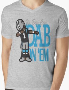 DAB ON'EM Mens V-Neck T-Shirt