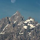 Moon over the Grand Tetons by Daniel Owens