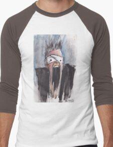 Study of Button Eyes - David Bowie Portrait Men's Baseball ¾ T-Shirt