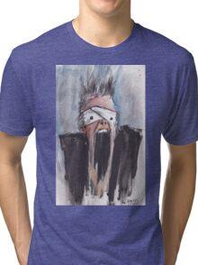Study of Button Eyes - David Bowie Portrait Tri-blend T-Shirt