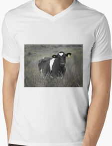 Lonely Cow Mens V-Neck T-Shirt