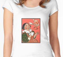 Whimsical Art - Humpty Dumpty Women's Fitted Scoop T-Shirt