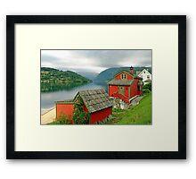 Houses at the fjord Framed Print