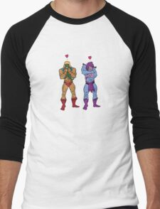 He-Man and Skeletor Snuggle Break Men's Baseball ¾ T-Shirt