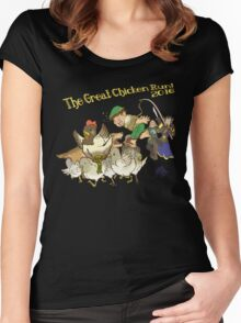 The Great Chicken Run 2016 Women's Fitted Scoop T-Shirt