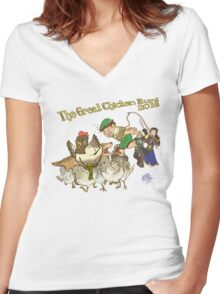 The Great Chicken Run 2016 Women's Fitted V-Neck T-Shirt