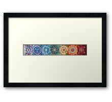 The seven chakras (horizontal) Framed Print