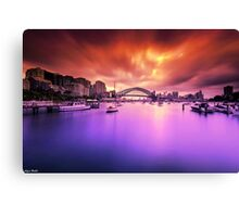 Lavender Bay Colours  Canvas Print