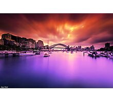 Lavender Bay Colours  Photographic Print