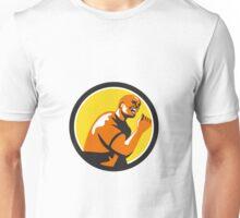 Man Fist Pump Low Angle Retro Unisex T-Shirt