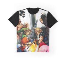 Smash Bros Cloud Promo Art Full Graphic Tee Graphic T-Shirt
