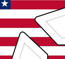American flag airplane Sticker