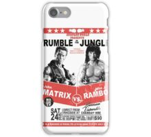 Rumble In the Jungle iPhone Case/Skin