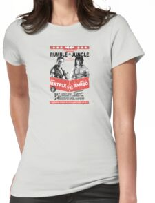Rumble In the Jungle Womens Fitted T-Shirt