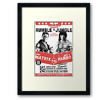 Rumble In the Jungle Framed Print