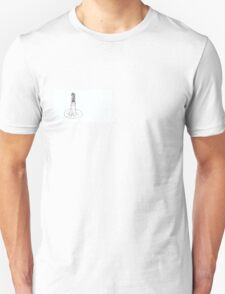 Simplistic Beautiful Girl in Ballgown Unisex T-Shirt