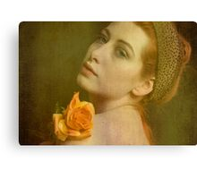 The look of the old master Canvas Print