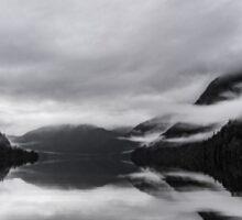 Mist on Mirror Lake Sticker
