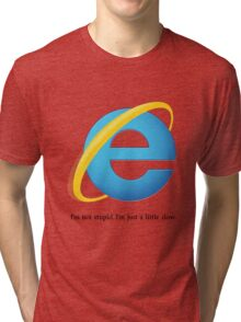 Internet Explorer -- Slow Tri-blend T-Shirt