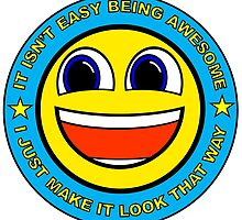I'm Awesome - Smile Sticker Smiley Uplifting Geek Good Job Meme by nfisher