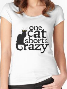 One cat short of crazy Women's Fitted Scoop T-Shirt