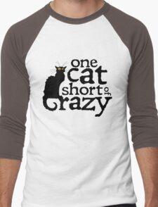 One cat short of crazy Men's Baseball ¾ T-Shirt