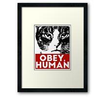 OBEY, HUMAN Framed Print