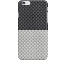 Black and White Two Tone Half and Half Black Top Kevlar Carbon Fiber Pattern  iPhone Case/Skin