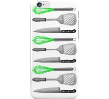 Kitchen Utensils Knife Spatula Whisk iPhone Case/Skin