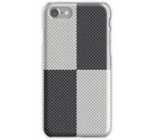 Black and White Quadrant Carbon Fiber Pattern iPhone Case/Skin