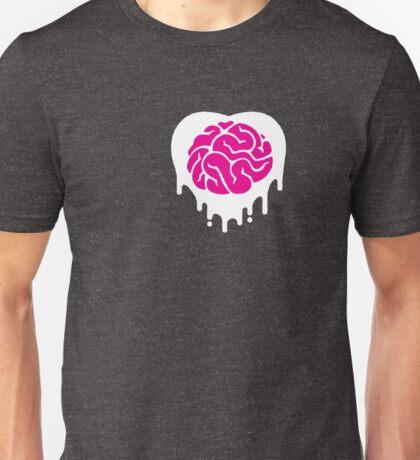white (heart) brainz Unisex T-Shirt
